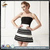 Black and white cocktail dress short dropship bandage dress club sexy dress