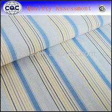 Yarn Dyed yellow blue white Stripe Fabric
