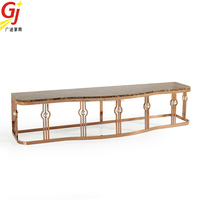 stainless steel modern wrought iron tv stand