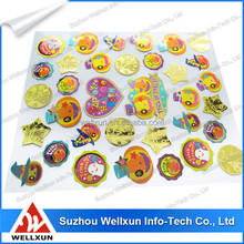 Low cost private printing puffy sticker for child