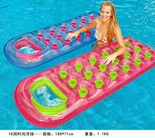 pvc inflatable beach water mattress lounge float, inflatable adult pool lounge mattress, inflatable adult pool mattress