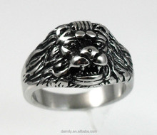 2015 New jewelry wholesale 316L Stainless Steel ring animal, lion ring for women