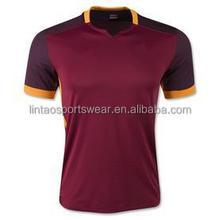 TOP thailand quality 2015 2016 AS ROMA Dzeko soccer jersey TOTTI De Rossi Kouassi football shirts 15 16 wholesale price jersey