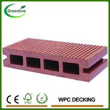 Anti-UV Hollow Wood Plastic Composite Outside Decking