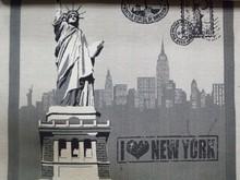 Jacquard new york indian gobelin hippie modern wall tapestry