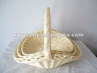 decorative willow flower girl basket for wedding(factory supplier)
