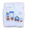 100% polyester newborn baby-boys good baby stroller muslin baby blanket with Satin Trim