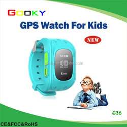 Multi-color SOS emergency alarm remote tracker personal gsm gps bracelet for children