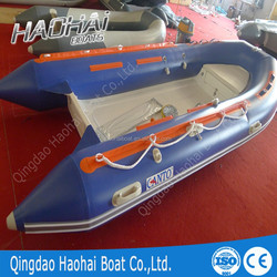 11.8ft 360 center console PVC material inflatable rib boat