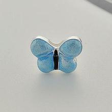 fantasy blue enamel butterfly 8mm slide charms animal shaped beads sliders for bracelets