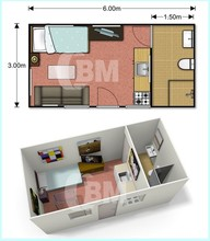 Low cost modular living container house