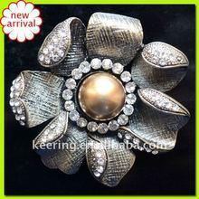 cooper alloy brooch(costume jewelry)