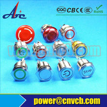 19mm push button switch UL CE ROHS 260 12v elevator push button switch