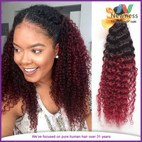 Kinky Curly Ombre Virgin Brazilian Hair Extension Baby Clothes Wholesale Price