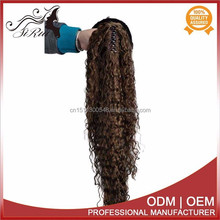 High quality kanekalon claw ponytail hair extension, long hair afro kinky ponytails