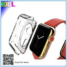 Factory wholesale 38''42'' ultra thin clear watch case silicone/TPU soft protective watch case for Apple