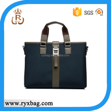 2015 fashion black polyester designer men handbags
