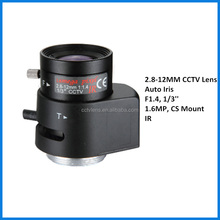 CCTV Auto Iris ip camera varifocal lens 2.8-12mm 1/3'' F1.4 cs mount zoom lens for security camera