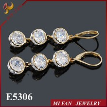Imitation jewelry china white zircon earring