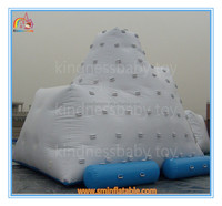 Funny water game inflatable floating island ,giant water climbing wall,cheap price inflatable floating island for sale