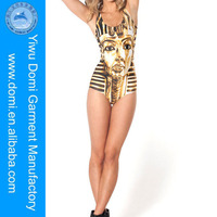Ancient Egypt Pharaohs printing one piece slim swimsuit new hot sexy girl photo hot / beautiful nude girl