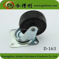 Rubber and plastic cabinet caster hard rubber caster wheel