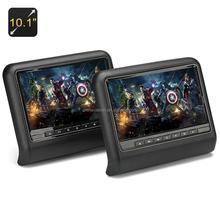 10.1 pulgadas monitores reposacabezas del coche + reproductor de DVD - región libre, juego controler, ranura para tarjeta sd, cabeza
