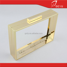 2016 Fashion clutch frame, metal box clutch purse bag frame cover(7*5 inch)