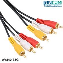 Lancom Factory price customized LOGO printed cable vga rca
