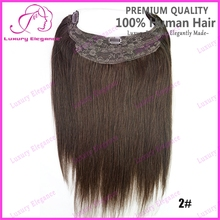 New Dark Brown Color #2 Halo Flip In Hair Extension No Tangle No Shed