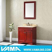 VAMA Solid Wood Red Modern Euro Commercial Bathroom Vanity