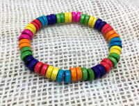 Elastic bracelets colorful wood beads gifts for girls spring and summer gifts