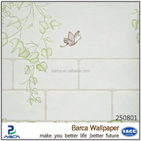 Barca 250801 Factory High foam non-woven wallpaper/decorative wallpaper in romantic leaves
