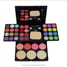big palette for 24 colors eyeshadow kit 8 colors lipgloss 4 blush and 3 bb cream