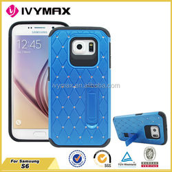 Luxury Case for Samsung Galaxy S6 Bling Diamond Case with Kickstand