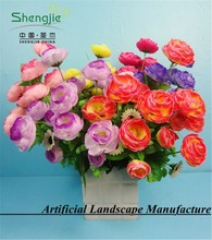 artificial new design Camellia flowers with gradient color for decoration