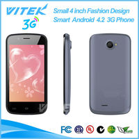 Alibaba Small 4 inch Fashion Design Smart Android 4.2 3G Phon