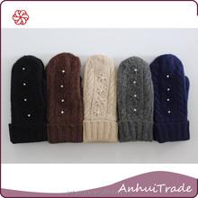 70% corderos de lana 20% Angora 10% Nylon No. 201222 dama de punto guante