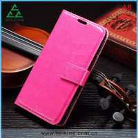 Button Stand leather case for Samsung Galaxy A8, wallet leather case for Samsung Galaxy A8 A800 A88F A8000