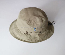 Factory Wholesales Blank Microfibre Summer Outdoor Travelling Hat Plain Bucket Hat