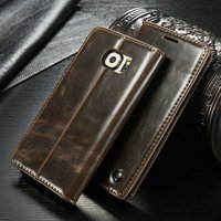 Best Selling Leather Case For Samsung Galaxy S6 Supporting 50pcs mix colors