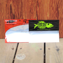 Clear fish lure Tournament Series Aluminum Foil Ziplock Fishing Soft Plastic Lure Bag With Hang Hole Attrative PrintingWindow