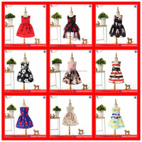 PGGD-0016 2015 New model children designer one piece party dress baby girl summer dress of 8years old