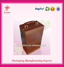 Two bottles Leather wine cases wholesale