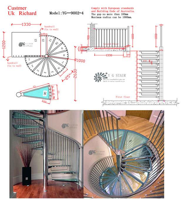 de hierro forjado escalera de caracolal aire libre de escalera en espiral de los