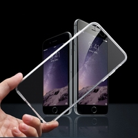 For iPhone6 TPU Soft Case Protect Camera Cover Crystal Clear Transparent Silicon Ultra Thin Slim Shell for iPhone 6 Plus