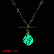 Fashion golw ball necklace glow in the dark necklace glow necklace