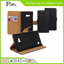 High Quality genuine leather phone case cover for NOKIA Lumia730 wallet high quality leather phone case