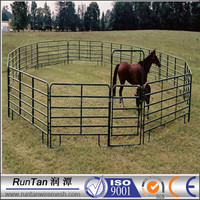 High quality Round style livestock panels ( factory ,ISO 9001 Certificate )