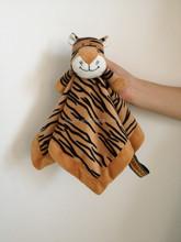 plush tiger doudou blanket for baby/baby heated blanket/OEM and ODM plush doudou lion blanket baby toys